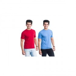 """BLE Solid Men's Round Neck T-Shirt (Pack of 2)"