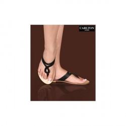 """Carlton London Glossy Black Slippers"