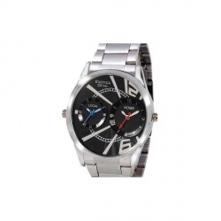 """""""Exotica Funfilling Black Dial Watch"""