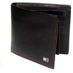 """""""Tommy Hilfiger Black Leather Men Wallet - T016208"""
