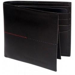 """""""Tommy Hilfiger Black Leather Men Wallet - T014280"""