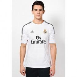 """Adidas Real Madrid Home White Football T Shirt"