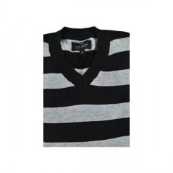 """Blue ocean Black Striper sweater by Max INC"