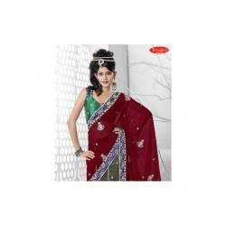 """Triveni Sarees Alluring Fancy Designer Saree With Unstitched Blouse"