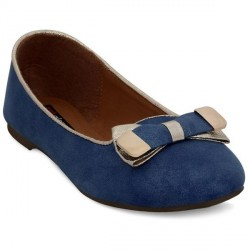 """Get Glamr Smart Blue Ballerinas"