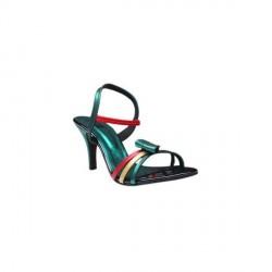 """""""Aiva Green Bow Slip-on Heels"""
