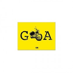 """Happily Unmarried Goa Bike Heavy Metal Sign"