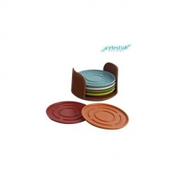 """""""Celestial Eco Friendly Coaster Set With Stand"""
